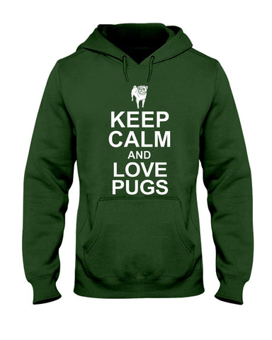 Image of Keep Calm and Love Pugs hoodie