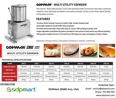 SDPMart MULTI UTILITY GRINDERS - 20 Ltr - SDPMart