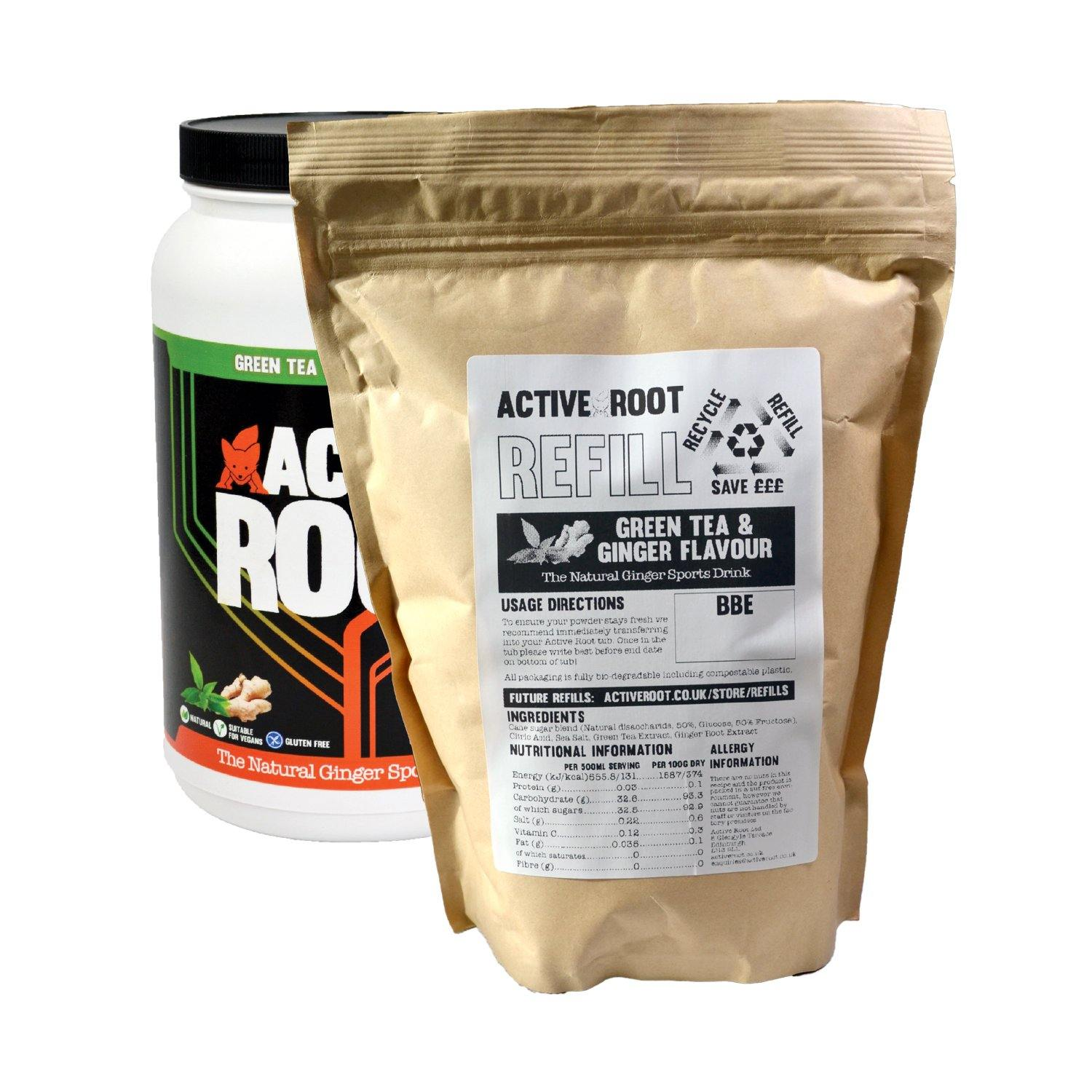Active Root Tub Refill Green Tea and Ginger