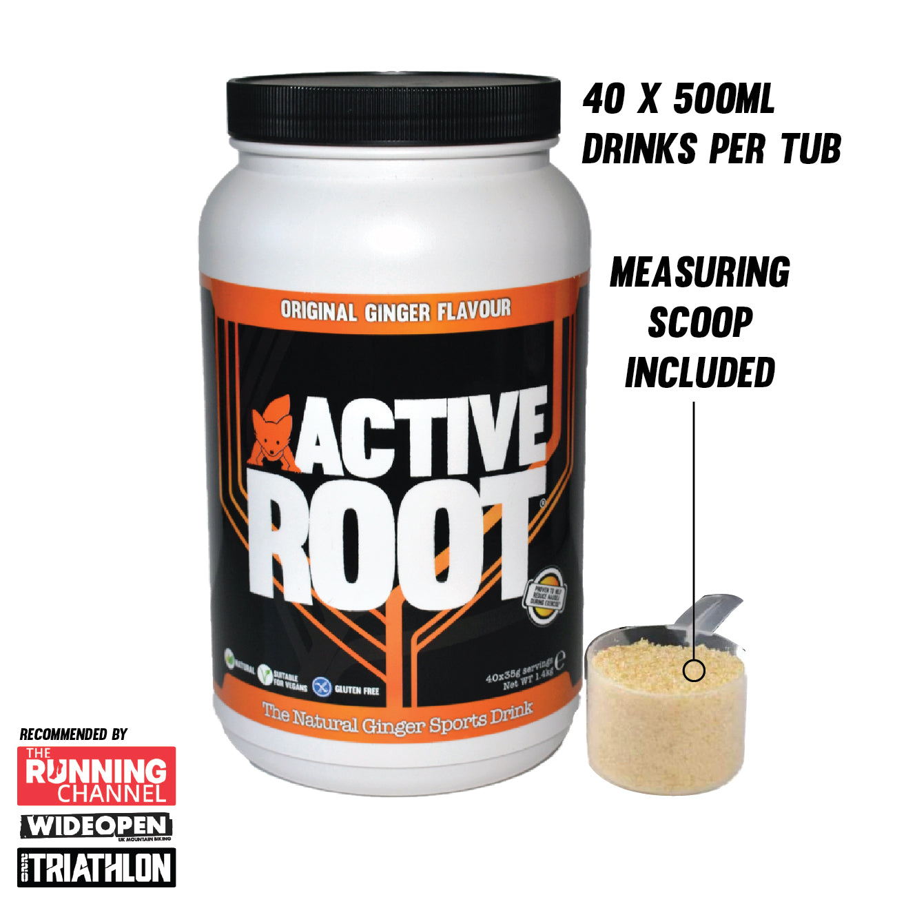 Original Ginger Flavour Sports Drink 1.4kg Mix Tub (40 servings)