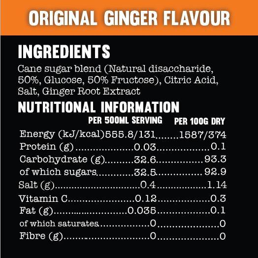 Active Root Original Ginger Nutritional Information