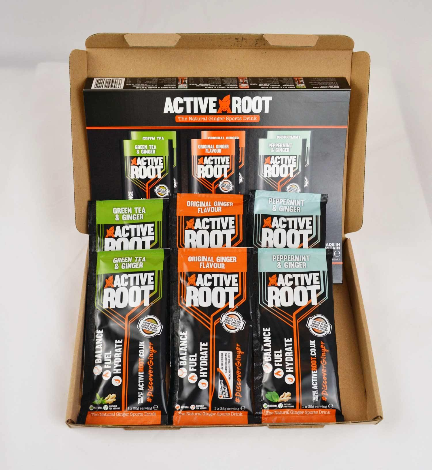 Active Root 6 Sachet Variety Pack Open