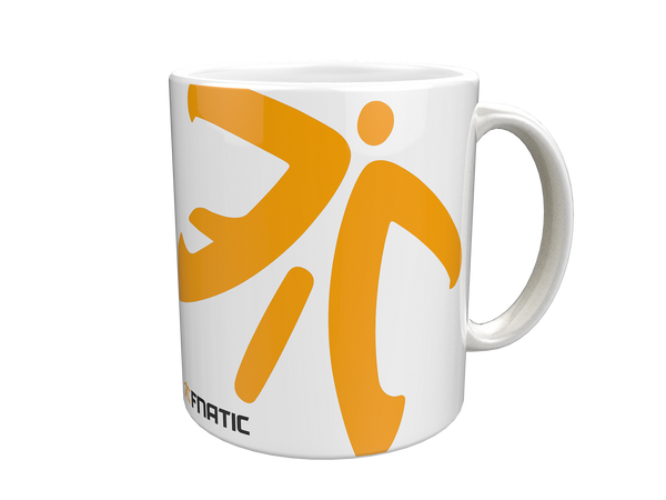 fnatic ceramic mug, logo, white – fnatic shop