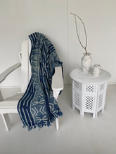 Load image into Gallery viewer, Indigo Cotton Throw #5
