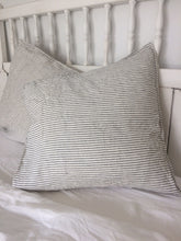 Load image into Gallery viewer, Black + White Linen European Cushion Cover