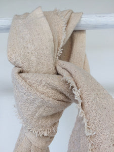 Lighthouse Cotton Scarf - Ivory Colour