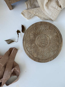 Tray - Timber Carved Chapati Plate #4