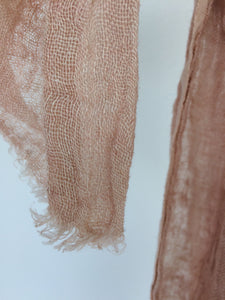 Belongil Linen Scarf Dusty Moroccan Rose Pink