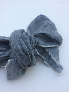 Belongil Linen Scarf Navy