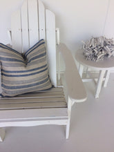 Load image into Gallery viewer, Coastal Linen Cushions Beige with Many Blue Stripes
