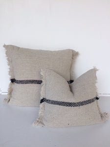 Rustic Cotton Cushion Cover Large - Fringed Edge