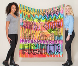 Fighter Throw Blanket