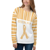 Professional Patient/Orange All Over Print Unisex Sweatshirt