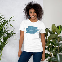Christmas Cure Splat/Turquoise Short-Sleeve Unisex T-Shirt