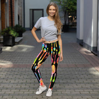 Painted Spoons Print Leggings