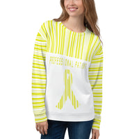 Professional Patient/Yellow All Over Print Unisex Sweatshirt