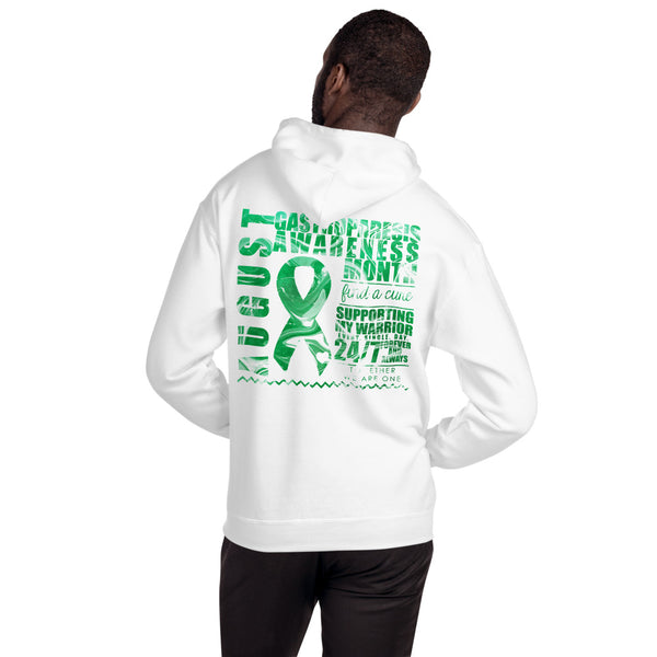 August Gastroparesis Awareness Month/SUPPORTER Marble Print Unisex Hoodie