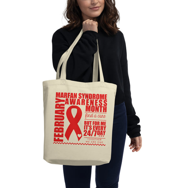February Marfan Syndrome Awareness Month/WARRIOR Eco Tote Bag