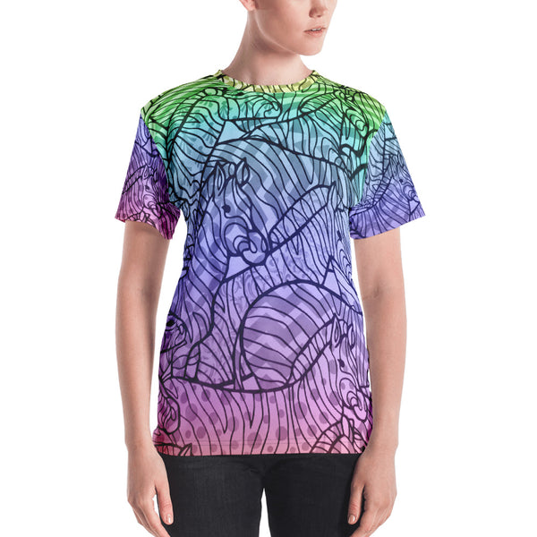Zebra Zentangles All Over Print Women's T-shirt
