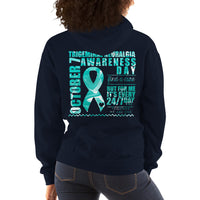 October 7 Trigeminal Neuralgia Awareness Day/WARRIOR Unisex Hoodie