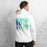 September Intracranial Hypertension Awareness Month/SUPPORTER Marble Print Unisex Hoodie