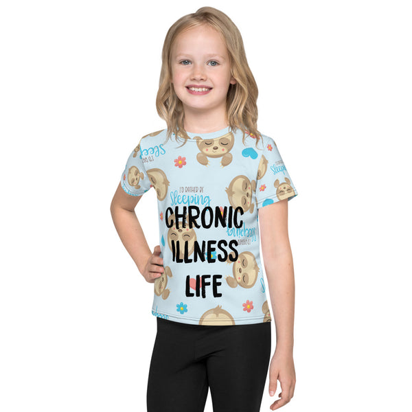 Chronic Illness Sloth Life Kids T-Shirt