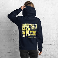 March Endometriosis Awareness Month/WARRIOR Marble Print Unisex Hoodie
