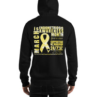 March Endometriosis Awareness Month/SUPPORTER Marble Print Unisex Hoodie