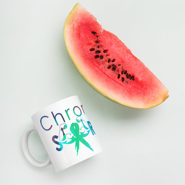 Chronically Strong Watercolor Grunge Print Mug