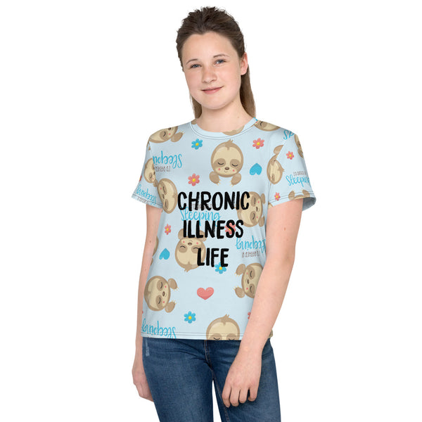 Chronic Illness Sloth Life Youth T-Shirt