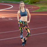 Painted Spoons Print Capri Leggings