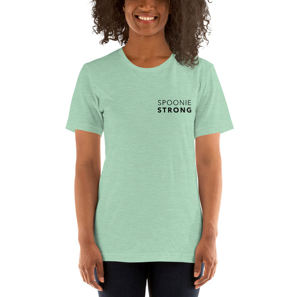 Spoonie Strong Text Short-Sleeve Unisex T-Shirt
