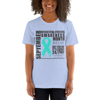 Two Sided Facts/September Interstitial Cystitis Awareness Month Short-Sleeve Unisex T-Shirt