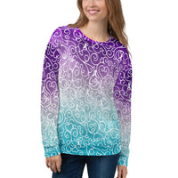 Whimsical Ribbons All Over Print Unisex Sweatshirt