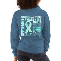 September Interstitial Cystitis Awareness/WARRIOR Marble Print Unisex Hoodie