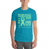 May Lyme Disease Awareness Month/SUPPORTER Tie Dye Print Short-Sleeve T-Shirt