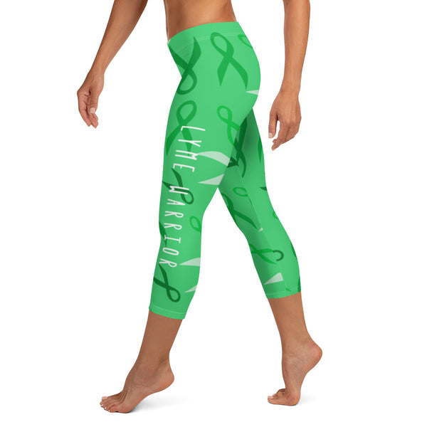 Lyme Disease Warrior Capri Leggings