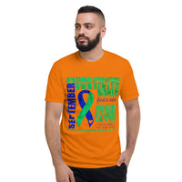 September Intracranial Hypertension Awareness Month/WARRIOR Tie Dye Print Short-Sleeve T-Shirt