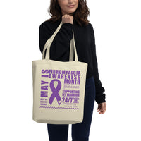 May Fibromyalgia Awareness Month/SUPPORTER Eco Tote Bag