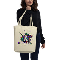 Splat Spoons Ribbon Eco Tote Bag