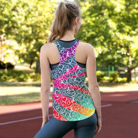 Fierce Zebra All Over Print Women's Racerback Tank