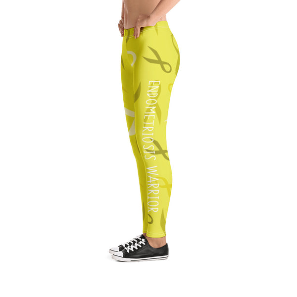 Endometriosis Warrior Ribbon Leggings