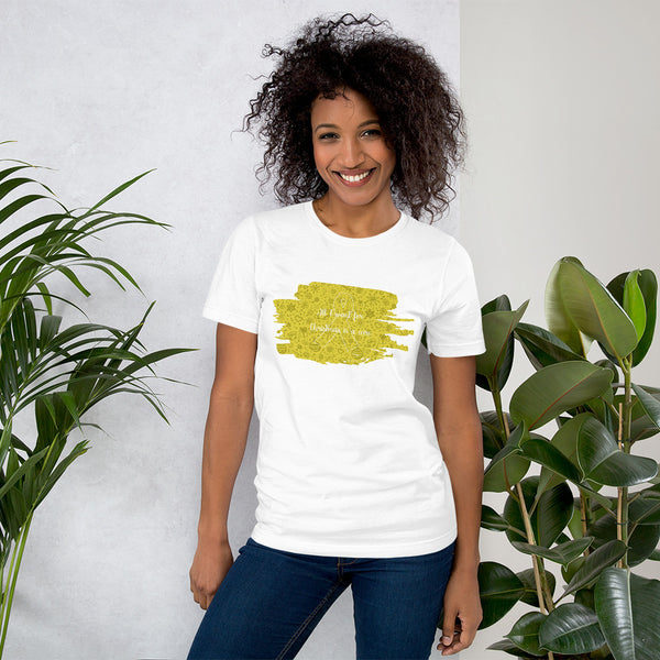 Christmas Cure Splat/Yellow Short-Sleeve Unisex T-Shirt
