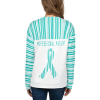 Professional Patient/Turquoise All Over Print Unisex Sweatshirt