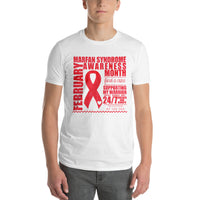 February Marfan Syndrome Awareness Month/SUPPORTER Tie Dye Print Short-Sleeve T-Shirt