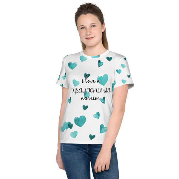 I Love A Dysautonomia Warrior All Over Print Youth T-Shirt