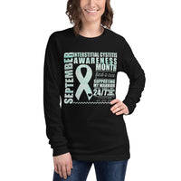 September Interstitial Cystitis Awareness/SUPPORTER Watercolor Print Unisex Long Sleeve Tee