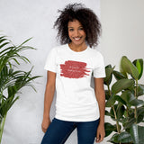 Christmas Cure Splat/Red Short-Sleeve Unisex T-Shirt