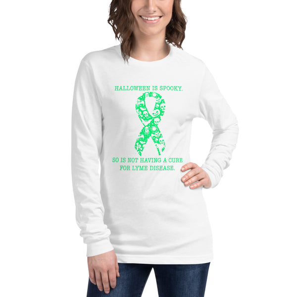 Spooky Lyme Disease Halloween Unisex Long Sleeve Tee