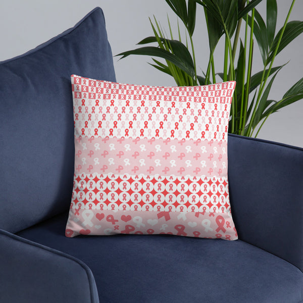 Ribbons on Ribbons/Red Basic Pillow